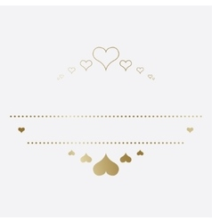 Design template with hearts vector image