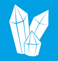 diamonds icon white vector image