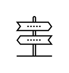 direction arrows - line design single isolated vector image