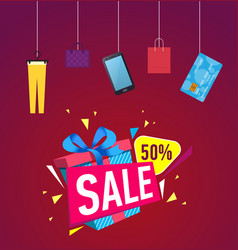 Discount sales proposition vector