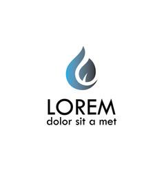 Drop leaf logo vector
