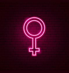 Female gender neon sign vector