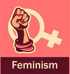 Feminism concept of female power vector