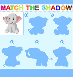 Find the correct shadow of the elephant vector