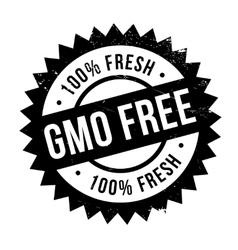 Gmo free stamp vector image