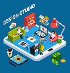 graphic design studio vector image