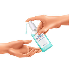 Hand sanitizer realistic composition vector