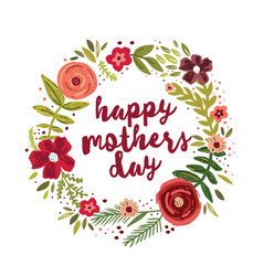Happy mothers day greetings card vector