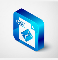 Isometric msg file document download msg button vector