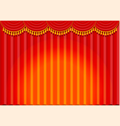 Lambrequin and pelmet for red curtains vector