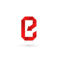 letter e mobile phone app logo icon design vector image