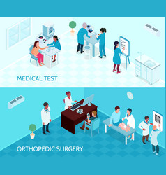 Medical help horizontal banners vector