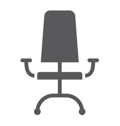 office chair glyph icon furniture and office vector image