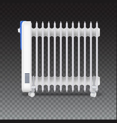 oil radiator isolated on transparent background vector image