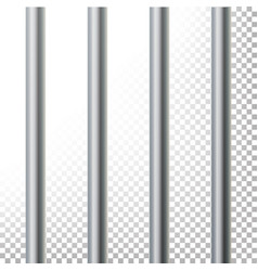 Prison bars isolated vector