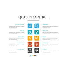 Quality control infographic 10 option concept vector
