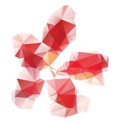 Red polygonal flower vector