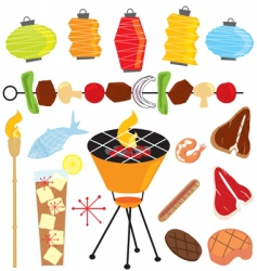 retro barbeque party vector image