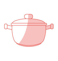 Saucepan shadow vector