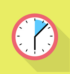 Schedule clock icon flat style vector