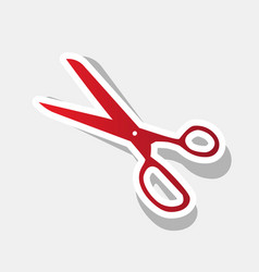 scissors sign new year vector image