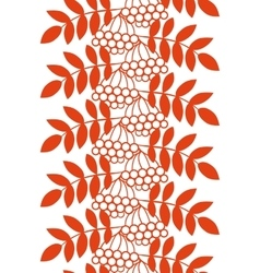 Seamless ashberry autumn pattern with rowan vector image