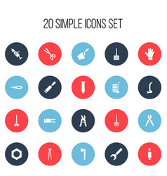 Set of 20 editable equipment icons includes vector