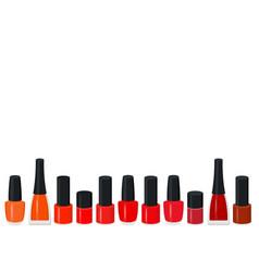 set of a color nail polish vector image