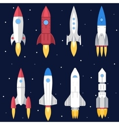 Space rocket start up and launch symbol new vector