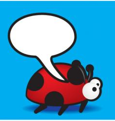 speech ladybird vector image