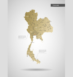 stylized thailand map vector image