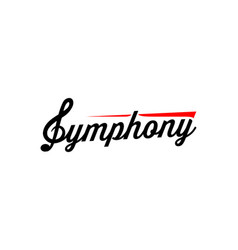 symphony emblem for music company studio store vector image