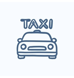 Taxi sketch icon vector image