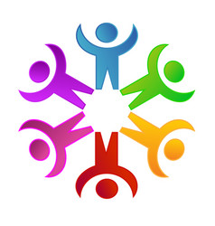 Teamwork social networking people unity concept vector