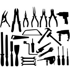 tools silhouettes collection vector image