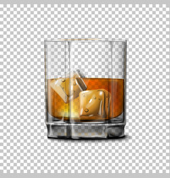 Transparent realistic glass with smokey vector