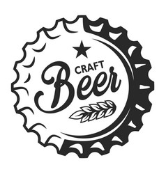Vintage craft beer logo vector