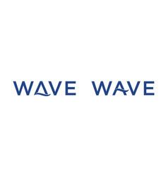 Wave word for logo designs editable vector