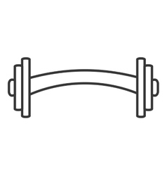 weight equipment gym isolated icon vector image