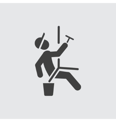 Window cleaner icon vector image