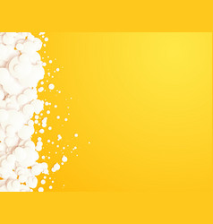 yellow background with white bubbles vector image