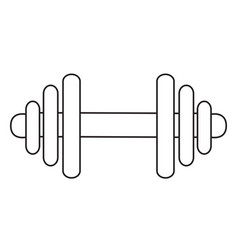 cartoon image of dumbbell icon barbell symbol vector image vector image