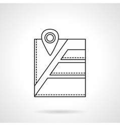 City navigation pin flat line icon vector image