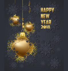 luxury elegant merry christmas and happy new year vector image