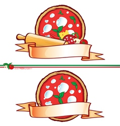 pizza 1 vector image vector image