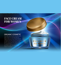 realistic women night cream for eye and face vector image vector image