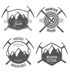 Set of vintage mountain explorer labels and badges vector image vector image