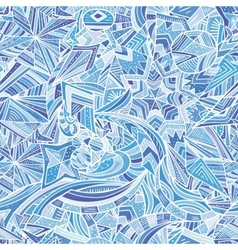 Blue aztec style pattern vector image