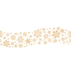 Golden seamless border with stars and vector image vector image
