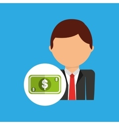money business man suit worker icon vector image